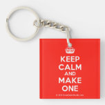 [Crown] keep calm and make one  Acrylic Keychains