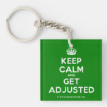 [Crown] keep calm and get adjusted  Acrylic Keychains