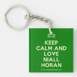[UK Flag] keep calm and love niall horan  Acrylic Keychains