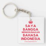 [Crown] saya bangga menggunakan bahasa indonesia  Acrylic Keychains