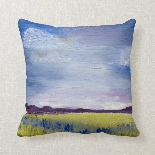 Should I Throw Away Old Pillows : Acrylic landscape Throw pillow 16