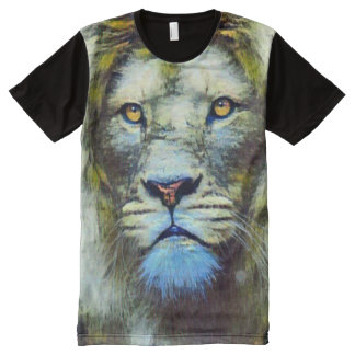 Acrylic Lion Surreal Oil Painting All-Over-Print T-Shirt