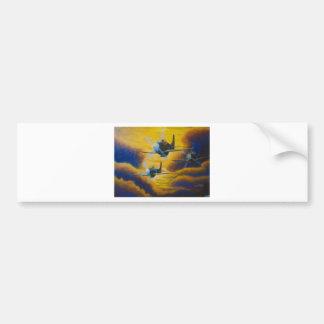 acrylic mustangs enhanced bumper sticker