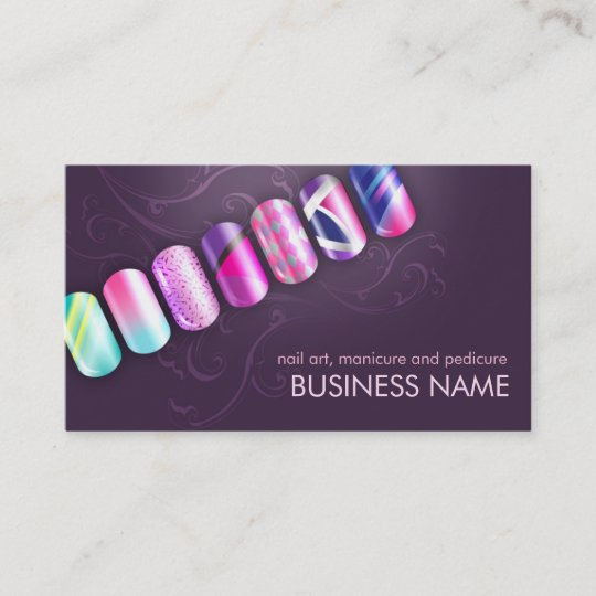 Acrylic Nail Art Business Card Template Zazzle