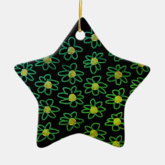 Acrylic Ornament : black green