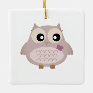 Acrylic ornament with Little owl