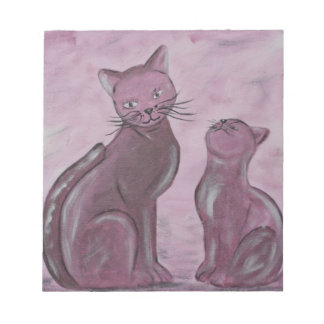 Acrylic paint purple Cats painted by Tutti Note Pad