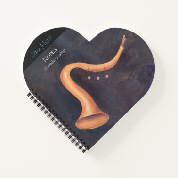 Acrylic painting of a surrealist trumpet. notebook