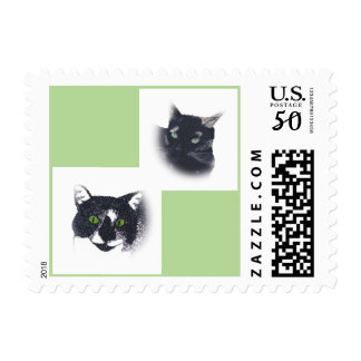Acrylic Painting Tuxedo Tortoise Shell Cats Stamps