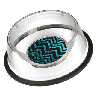 Acrylic Pet Bowl Zig Zag Sparkley Texture