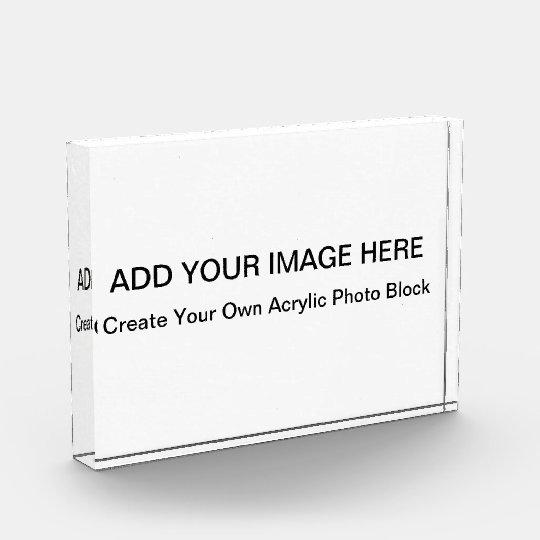 acrylic photo blocks create your own award zazzle com