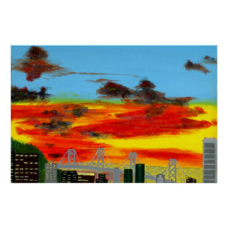 Acrylic Ppainting City Scape Posters