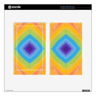 Acrylic Rainbow Diamond Pattern Decals For Kindle Fire