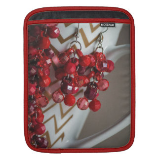 Acrylic Red Beads iPad Sleeve