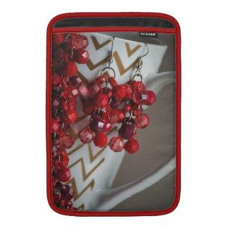 Acrylic Red Beads MacBook Sleeve