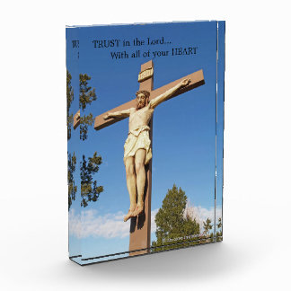 Acrylic Religious Photo Block - Trust in the Lord