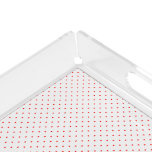 Acrylic Serving Tray White with Red Dots