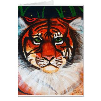 Acrylic Tiger Face Card