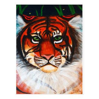 Acrylic Tiger Face Postcard