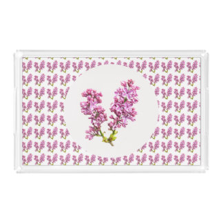 Acrylic Tray - Multiple Lilacs Rectangle Serving Trays