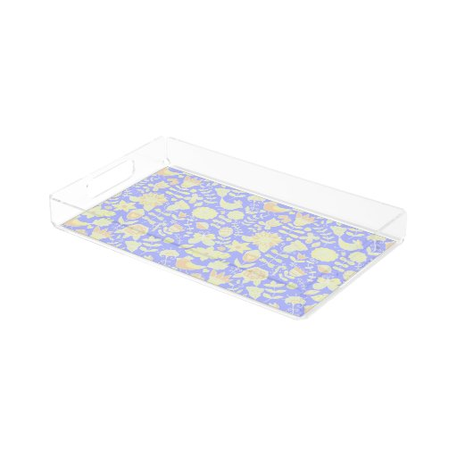 Acrylic Vanity Tray In Spring Design Zazzle