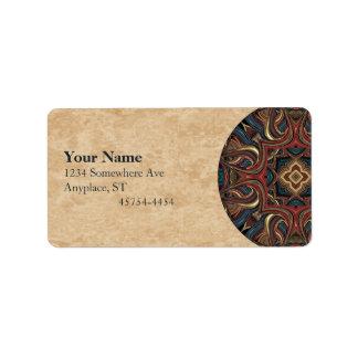 Acrylic Vision Mandala Address Avery Label