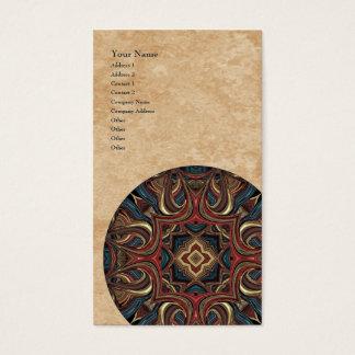 Acrylic Vision Mandala Vertical Business Card