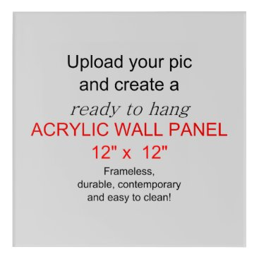 PrintOnProducts Acrylic Wall Art 12 x 12 - Add pics and text!