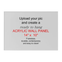 Acrylic Wall Art 14 x 10 - Add pics and text!
