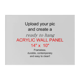 Acrylic Wall Art 14 x 10 - Add pics and text!
