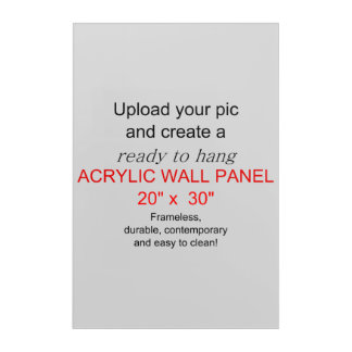 Acrylic Wall Art 20 x 30 - Add pics and text!