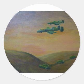 acrylic warthog3 jpeg classic round sticker