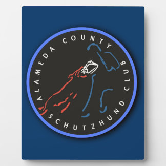 ACSC Navy Logo Display Board with Easel Photo Plaque
