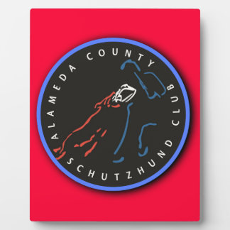 ACSC Red Logo Display Board with Easel Plaque