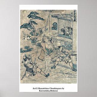 Act11 Kanadehon Chushingura por Katsushika, Hokusa Posters