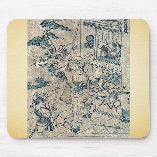 Act11 Kanadehon Chushingura por Katsushika, Hokusa Tapete De Raton
