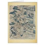 Act11 Kanadehon Chushingura por Katsushika, Hokusa Tarjeton