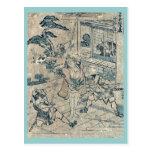 Act11 Kanadehon Chushingura por Katsushika, Hokusa Postales