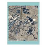 Act12 Kanadehon Chushingura by Katsushika,Hokusai Postcard