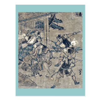 Act12 Kanadehon Chushingura by Katsushika Hokusai Postcard
