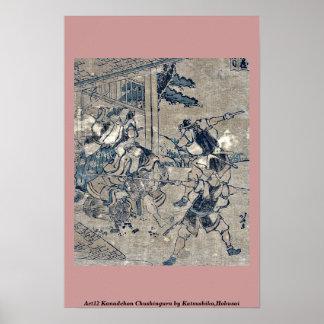 Act12 Kanadehon Chushingura por Katsushika, Hokusa Impresiones