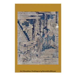 Act1 Kanadehon Chushingura por Katsushika, Hokusai Impresiones