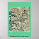 Act2 Kanadehon Chushingura por Katsushika, Hokusai Poster