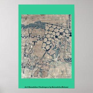 Act3 Kanadehon Chushingura por Katsushika, Hokusai Poster