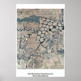 Act3 Kanadehon Chushingura por Katsushika, Hokusai Posters