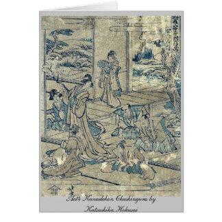 Act4 Kanadehon Chushingura by Katsushika Hokusai Cards