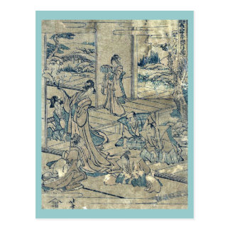 Act4 Kanadehon Chushingura by Katsushika Hokusai Postcards
