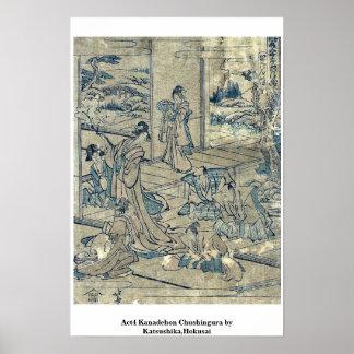 Act4 Kanadehon Chushingura por Katsushika, Hokusai Posters