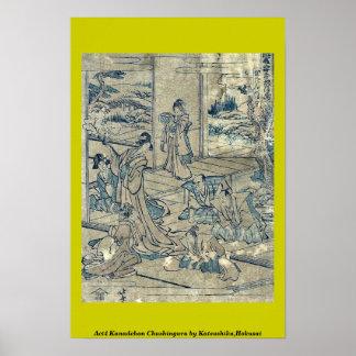 Act4 Kanadehon Chushingura por Katsushika, Hokusai Poster