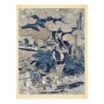 Act5 Kanadehon Chushingura by Katsushika,Hokusai Postcard